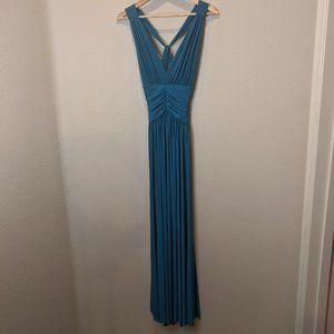 Moda International Long Blue Dress Fashionable! S